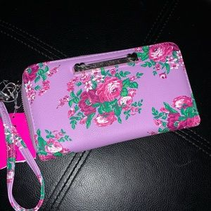 NWT Betsy Johnson purple wristlet/wallet